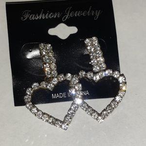 Fashion Jewelry Rhinstone Hearts.